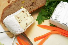Delicatessen cheeses Royalty Free Stock Images