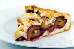 Delicatessen crumble plum cake Royalty Free Stock Image