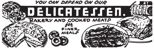 Delicatessen 2. Retro Ad Art Banner vector illustration
