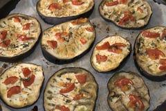 Delicatessen of eggplants Stock Photography