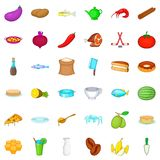 Delicatessen icons set, cartoon style. Delicatessen icons set. Cartoon style of 36 delicatessen vector icons for web isolated on white background royalty free illustration