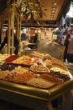 Delicatessen shop in market. Barcelona. Spain Stock Images