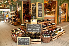 Delicatessen shop at Viktualien Markt, Munich. A gourmet food and wine shop at Viktualien Markt, Munich, Germany, famous touristic attraction royalty free stock photography