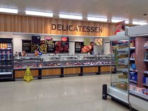 Delicatessen in a superstore. Royalty Free Stock Photography