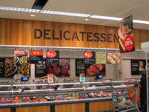 Delicatessen in a superstore. Royalty Free Stock Photos