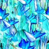 Delicato pastello della giungla del modello della stampa dell'acquerello del legame della tintura del fiore senza fine senza cuci royalty illustrazione gratis