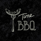Delicios BBQ typography concept. Grill Party Royalty Free Stock Photography