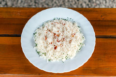Delicios rice on with plate Royalty Free Stock Photography
