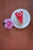 Delicioso colorido de la torta de la fresa Foto de archivo libre de regalías