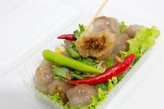 Delicioso picante do pimentão vermelho da carne de porco das tapiocas muito Imagem de Stock Royalty Free