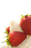 Delicious. Strawberries with cream Royalty Free Stock Photography