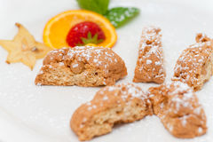 Delicious almond biscuits Royalty Free Stock Photos