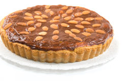 Delicious almond tart Royalty Free Stock Image