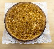 Portuguese Caramelized Almond Tart Stock Images