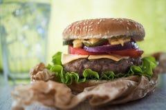 Delicious american burger Stock Photography