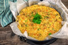 Delicious And Healthy Cabbage Pie Royalty Free Stock Photography