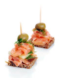 Delicious appetizer Stock Images