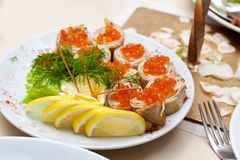 Delicious Appetizer Royalty Free Stock Photos