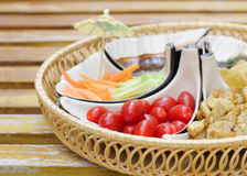 Delicious appetizer with cherry tomato shallow DOF Stock Image