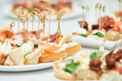 Delicious appetizer close-up Stock Photography