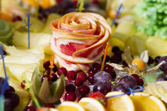 Delicious appetizer close-up. Beautiful delicious appetizer close-up Royalty Free Stock Images