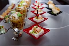 Delicious Appetizer and finger foods Stock Photo