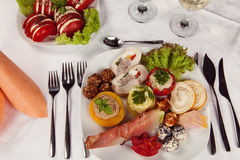 Delicious Appetizer Plate on a table Royalty Free Stock Photo