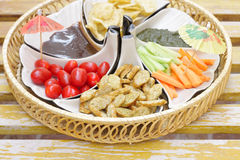 Delicious appetizer at shallow depth of focus Stock Photos