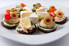 Delicious appetizers Stock Images