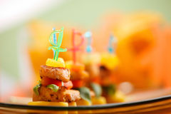 Delicious appetizers on platter. Served for party or celebration Royalty Free Stock Photos