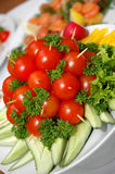 Delicious appetizing food. Some appetizing food at banquet table Royalty Free Stock Photography