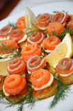 Delicious appetizing food. Some appetizing food at banquet table royalty free stock photos