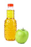 Delicious apple juice in plastic bottle Stock Photography