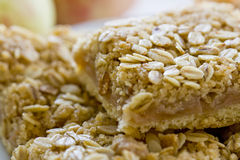 Delicious apple and oat bars Royalty Free Stock Photos
