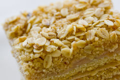 Delicious apple and oat bars Stock Photos