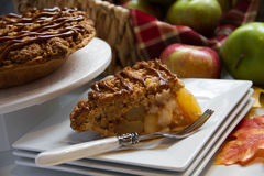 Delicious apple pie. Slice of deicious apple pie Royalty Free Stock Photo