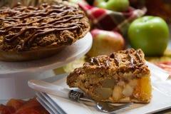 Delicious apple pie. Slice of deicious apple pie Stock Photos