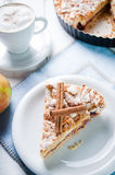 Delicious apple pie with sweet crumble Stock Image