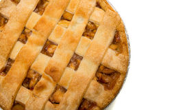 A delicious Apple Pie on white. A delicious Apple Pie on a white background stock images