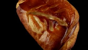 Delicious apple puff pastry stock video