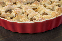 Delicious applepie. On wooden table Royalty Free Stock Image