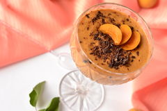 Delicious apricot mousse Stock Photography