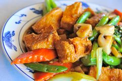 Delicious Asian bean curd Royalty Free Stock Images