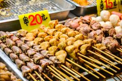 Asian food on night food court/market royalty free stock photography