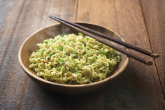 Delicious Asian dried ramen noodles Stock Photography