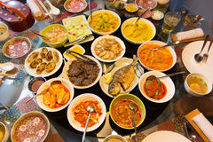 Delicious Asian Feast. Delicious Asia Feast of spicy Curries and Chinese Delicacies royalty free stock photos