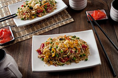 Delicious asian food lunch special in a restaurant Royalty Free Stock Image