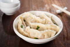 Delicious Asian gourmet dumplings soup Royalty Free Stock Photography