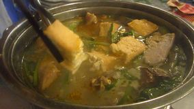 Delicious Asian Hot Pot stock video footage