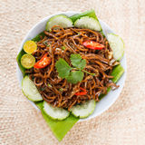 Delicious Asian spicy fried noodles Stock Photography